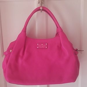 Pink leather Kate Spade tote
